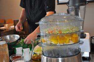 Cuisson vapeur et cuisine tonique (hypotoxique) - Suprême de pintade